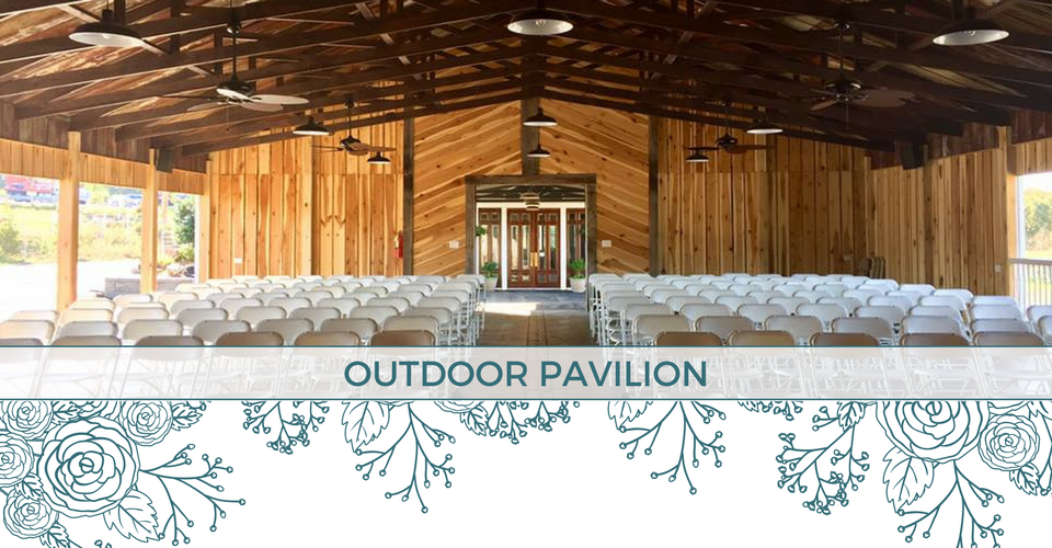 Outdoor wedding and event pavilion